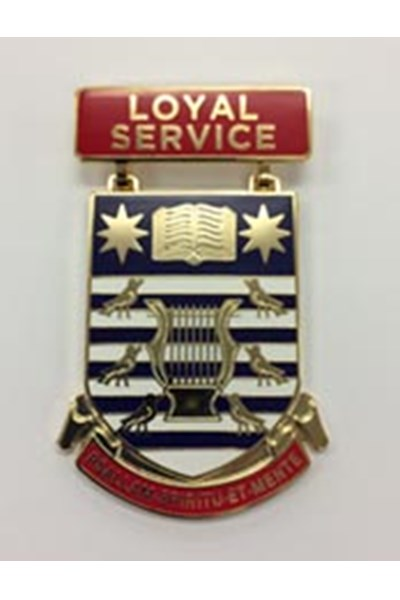 Loyal Service Medal (to be worn on ribbon)