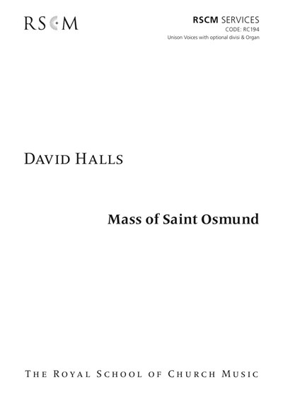 Halls: Mass Of St Osmund
