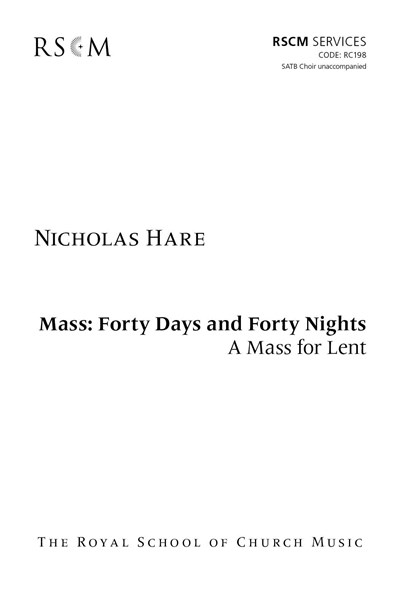 Hare: Mass - Forty Days and Forty Nights
