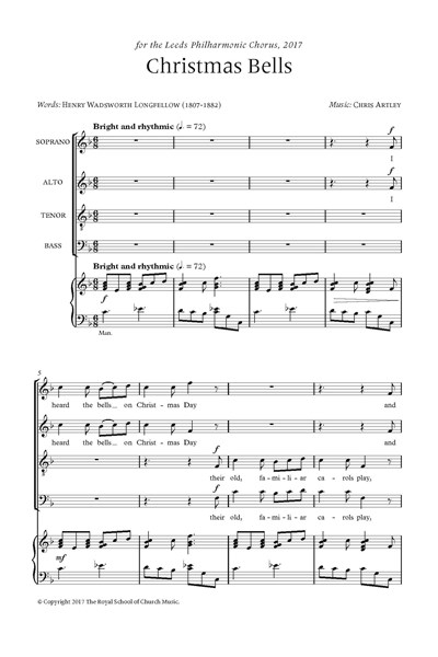 Artley: Christmas Bells - carol for SATB choir