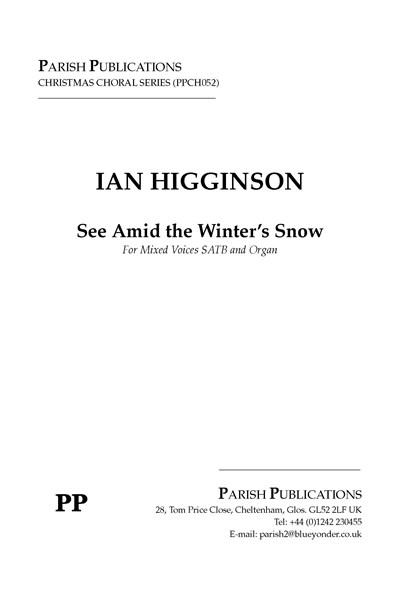 Higginson: See Amid the Winter's Snow