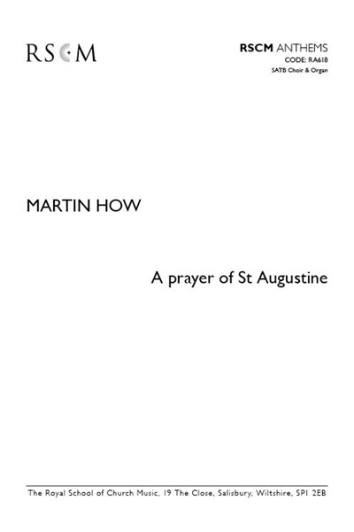 How: A Prayer of St Augustine