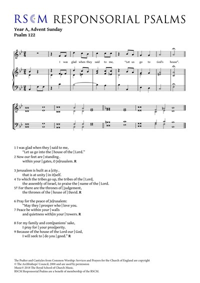 Responsorial Psalm Advent Sunday Year A