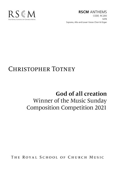 Totney: God of all creation S A Men (Digital Download)